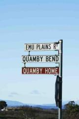 """""""what is ....""""  sign for emu plains rd."""